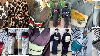 和歌山の着付け教室Yoshiko 7月の着物コーディネート